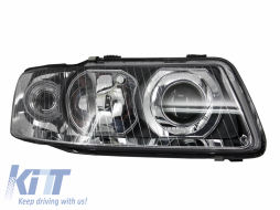 Audi A3 8L (2000-2003) Replacement Right Side Headlight Chrome Background 8L00941004K 8L0941004AF - 1030182
