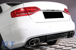 Audi A4 B8 Sedan Facelift (2012-up) Rear Bumper Valance Diffuser & Exhaust Tips RS4 Design - RDAURS4F
