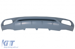 Audi A4 B8 Sedan Pre Facelift (2007-2012) Rear Bumper Valance Diffuser & Exhaust Tips AB-Design - RDAUA4B8AB