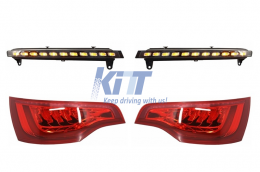 Audi Q7 4L 2006-2009 Facelift Look Lighting Package - DRL Daytime Running & Tail Lights  - COTLAUQ7DRL