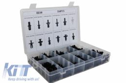 Auto Clips Plastic fasteners Kit 350 pcs - UNIVERSALCLIPS350