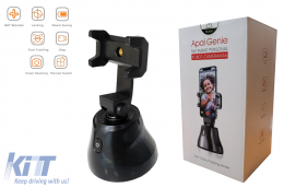 Auto Face Object Tracking Smart Shooting Phone Camera Holder 360 Rotation Mount Selfie Stick for TikTok/YouTube/Live Stream/Makeup - TRCAM360