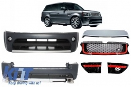 Autobiography Design Body Kit Range Rover Sport Facelift 2009-2013 L320 Black / Red Edition - COCBRRSFLRB