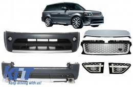 Autobiography Design Body Kit Range Rover Sport Facelift 2009-2013 L320 Black/Silver Edition - COCBRRSFLBS