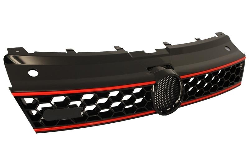 calandre centrale noir avant volkswagen vw polo 6r 2009 2014 gti design grille ebay. Black Bedroom Furniture Sets. Home Design Ideas
