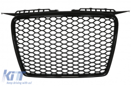 Badgeless Front Grille Audi A3 8P (2004-2007) RS Design Piano Black - FGAUA38PRSB