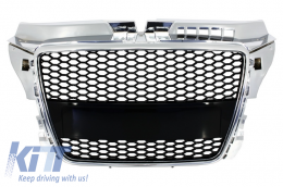 Badgeless Front Grille Audi A3 8P Facelift (2007-2012) RS Design - FGAUA38PFRS