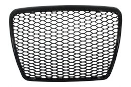 Badgeless Front Grille Audi A6 4F 4F2 C6 (2004-2011) RS Design Piano Black