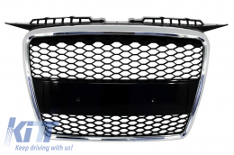 Badgeless Front Grille suitable for AUDI A3 8P (2004-2007) RS Design - FGAUA38PRS
