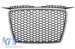 Badgeless Front Grille suitable for AUDI A3 8P (2004-2007) RS Design - FGAUA38PRSC