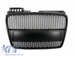 Badgeless Front Grille suitable for AUDI A4 B7 (2004-2008) RS4 Matte Black - FGAUA4B7RSBB