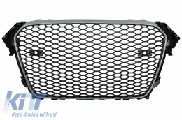 Badgeless Front Grille suitable for AUDI A4 B8 Facelift (2012-2015) RS Design With and Without PDC - FGAUA4B8FRS
