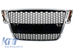 Badgeless Front Grille suitable for AUDI A5 8T (2007-2011) RS Design - FGAUA58TRS