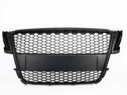 Badgeless Front Grille suitable for AUDI A5 8T (2007-2011) RS Design Matte Black - FGAUA58TRSMB
