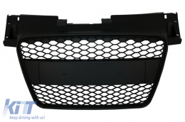 Badgeless Front Grille suitable for Audi TT 8J (2006-2014) RS Design Sport Matte Black - FGAUTT8JRSMB