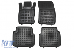 Black Floor Mats Rubber suitable for Ford KUGA MK III (2019-up) - 200635