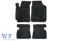 Black Floor Mats Rubber suitable for Hyundai Getz (2002-2011) - 201608