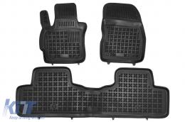 Black Floor Mats Rubber suitable for MAZDA 5 I MAZDA 5 II (2010-2015) - 200804