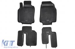 Black Floor Mats Rubber suitable for MAZDA CX9 (2007-2015) - 200809