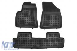 Black Floor Mats Rubber suitable for Peugeot 5008 I (2009-2017) - 201307