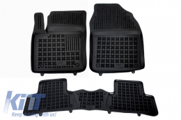 Black Floor Mats Rubber suitable for TOYOTA C-HR (2016-Up) - 201433