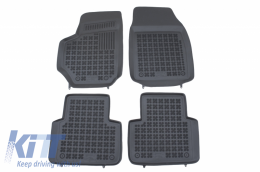 Black Rubber Floor mat suitable for FIAT CROMA II (2005-2011) - 201504
