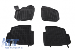 Black Rubber Floor Mats Auto Seat Cordoba 02-09 Ibiza 02-08  Skoda Fabia 99-02-07 suitable for VW Polo 02-09 - 200203