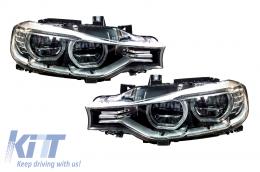 BMW 3 Series 3er F30 F31 Sedan Touring (2011-up) Full LED Angel Eyes Headlights - HLBMF30LED