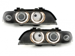 BMW 5 Series E39 (1995-2000) Xenon HID Headlights with Angel Eyes Facelift LCI Design - SWB07DBHID