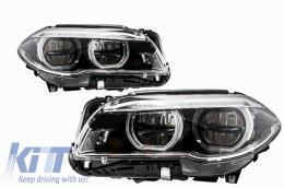 BMW 5 Series F10 F11 LCI (2014-2017)Full LED Angel Eyes Headlights - HLBMF10LCILED
