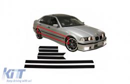 BMW E36 3 Series 4D (1992-1998) Door Moldings Strips M3 Design limousine Sedan - DMBME364DM3
