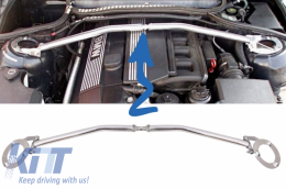 BMW E46 3 Series (1998-2004) 6 Cylinder M Front Up Aluminium Strut Tower Bar Brace Stress - FBABME46