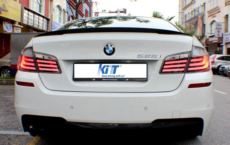 Bmw F10 5 Series Saloon 2011 226 2014 Led Tail Lights Lightbar Lamps Clear Red