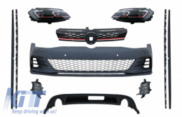 Body Kit and LED Headlights Sequential Dynamic Turning Lights suitable for VW Golf 7.5 VII Facelift (2017-up) GTI Design - COCBVWG7FGTIHL