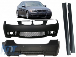 Body Kit BMW 3 series  E90 (2004-2008) (Non LCI) M3 Design Front/Rera Bumper without Fog Lamps with Side Skirts - COCBFBBME90M3WFSS