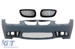 Body kit Bumper Grilles 3 Color Kidney BMW 3 E92 E93 06-09 M3 Design PDC SRA - COFBBME92M3PWFFGC
