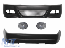 Body Kit Bumpers suitable for BMW E46 1998-2004 M3 CSL Design with Fog Lights Clear/Chrome - COFBBME46M3WFCSL2D