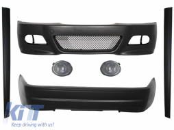 Body Kit Bumpers suitable for BMW E46 1998-2004 M3 CSL Design with Fog Lights Clear/Chrome