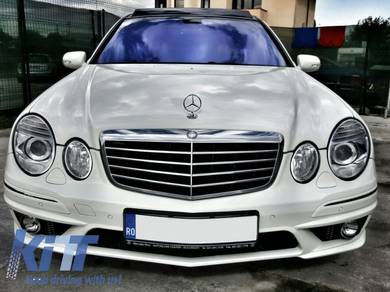 body kit central grille mercedes benz e class w211 2002. Black Bedroom Furniture Sets. Home Design Ideas