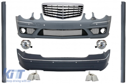 Body Kit + Central Grille Mercedes-Benz E-Class W211 2002-2009 E63 AMG LOOK - COCBMBW211AMGFRFGTY
