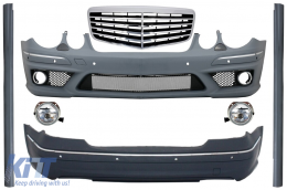 Body Kit + Central Grille suitable for MERCEDES-Benz E-Class W211 2002-2009 E63 A-Design - COCBMBW211AMGFRFG
