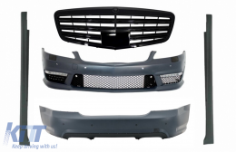 Body Kit Complete AMG suitable for MERCEDES-Benz S-Class W221 (2005-2011) SWB S63 S65 Piano Black Design - COCBMBW221AMGSPB