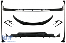 Body Kit Extension suitable for Tesla Model 3 (2017-up) Front Bumper Lip Air Diffuser and Side Skirts Piano Black - CBTSLM3