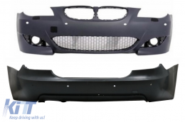 Body Kit Front and Rear Bumper suitable for BMW 5 Series E60 (2007-2010) LCI M5 Design with PDC 18mm - COFBBME60M5X18MTPDC