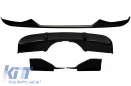 Body Kit Front Bumper Lip and Air Diffuser Suitable for BMW X5 (F15) (2014-2018) Aero Package M Technik Sport Piano Black - CBBMF15MPAERO