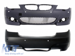 Body Kit Front/Rear Bumper BMW 5 Series E60 2007-2010 LCI M5 Design with PDC 18mm - COCBBME60M5P18