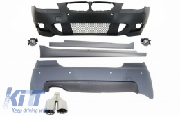 Body Kit M-Technik BMW E60 5-series (2003-2007) With PDC 24mm + Exhaust Muffler Tips M-Power LEFT - COCCBBME60MTPDC24ASL