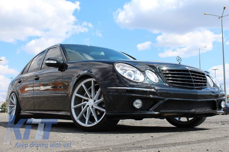 Body kit mercedes benz e class w211 2002 2009 e63 amg look for Mercedes benz e class e63 amg