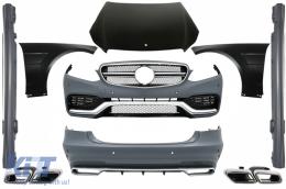 Body Kit Mercedes Benz W212 E-Class Facelift (2013-up) E63 AMG Design with Exhaust Muffler Tips - COCBMBW212FAMGCS63