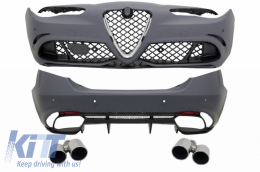Body kit suitable for Alfa Romeo Giulia (952) Q4 (2016-Up) Quadrifoglio Racing Design - CBALFRG952